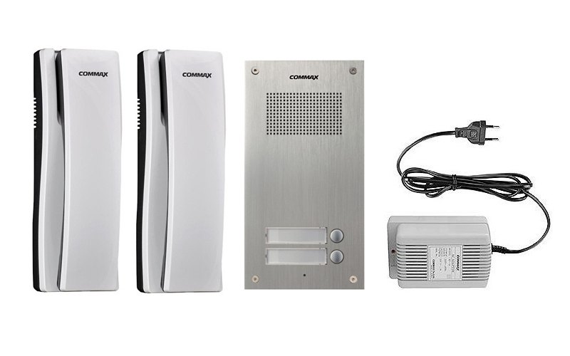Sada domácích telefonů pro 2 uživatele Commax DR-2UM/ DP-SS/ RF-1A