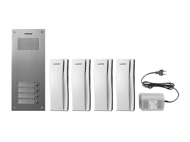 Sada domácích telefonů pro 4 uživatele Commax DR-4UM/ DP-SS/ RF-1A
