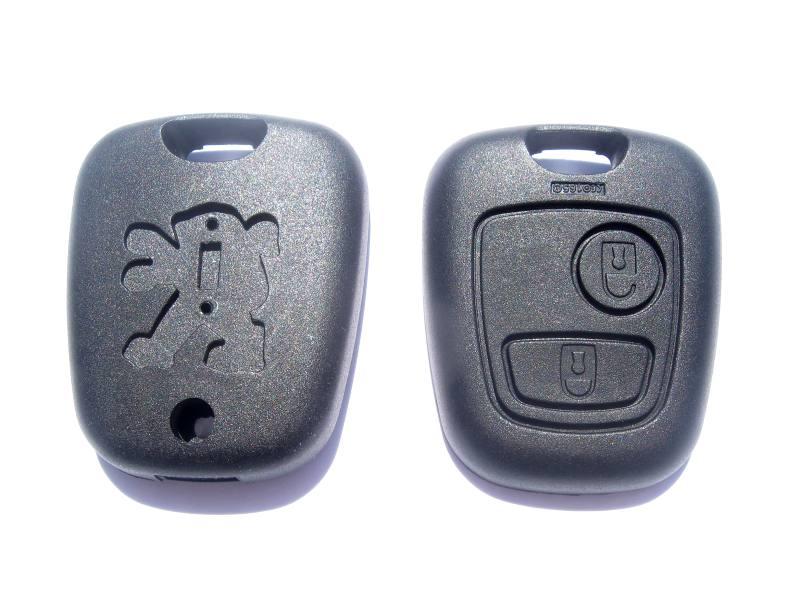 Náhradní obal klíče Peugeot, 2-tlačítkový PG118