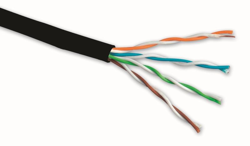 UTP kabel Solarix CAT5E PE venkovní