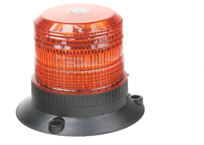 Zábleskový maják, 12-110V, oranžový magnet, wl19