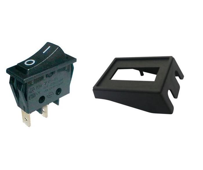 Kolébkový vypínač s rámečkem 15A