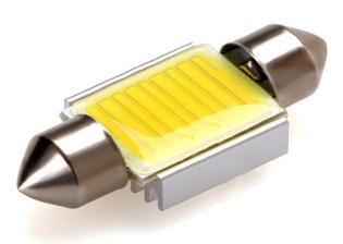 COB LED žárovka 12V s paticí sufit, bílá (39mm)