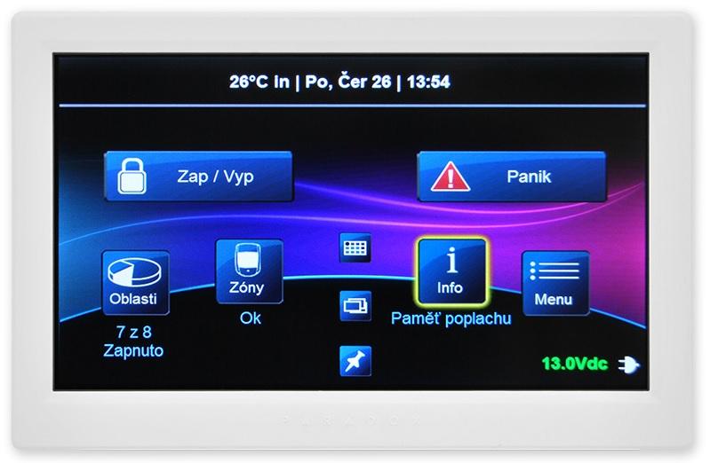 Dotyková klávesnice PARADOX TM70