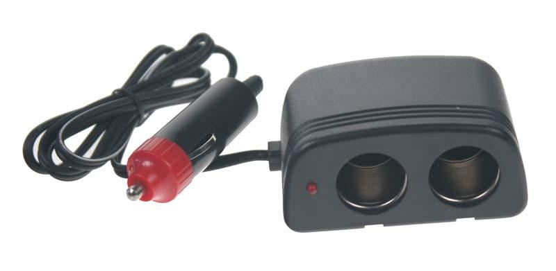 Dvojitá CL zásuvka s kabelem a CL zástrčkou