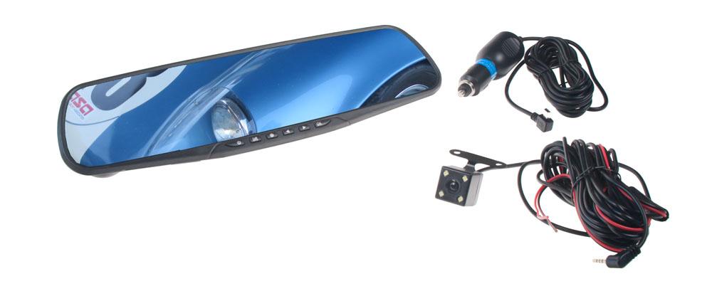 Kamera do auta integrovaná v zrcátku dvr18