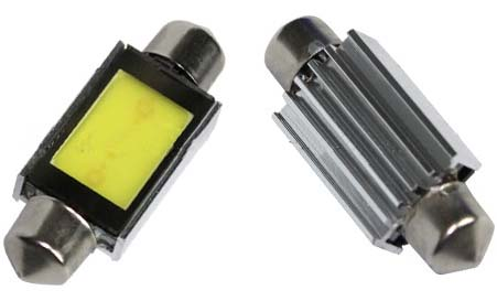 COB LED žárovka 12V s paticí sufit (36mm)